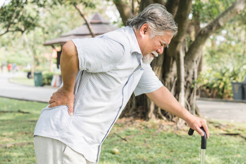 asian elderly having pain his back 1