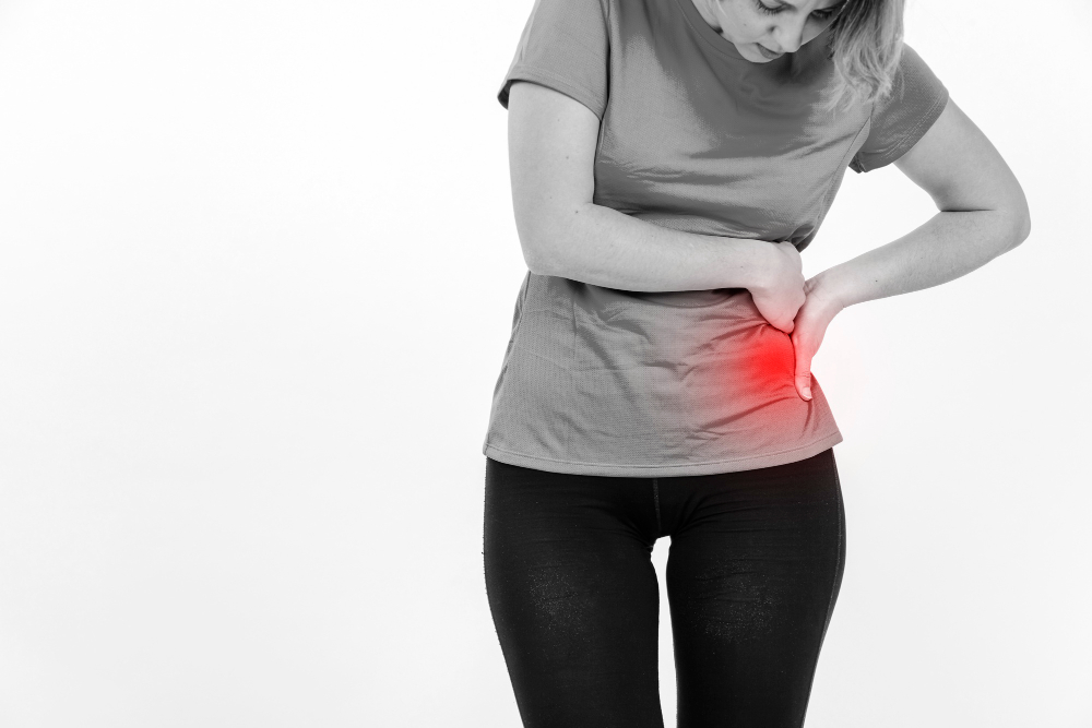 woman with sore loin