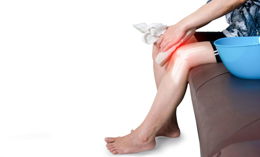 human leg osteoarthritis inflammation bone joints cold compress 1